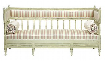 Antique 19TH CENTURY PAINTED SWEDISH DAY BED SOFA