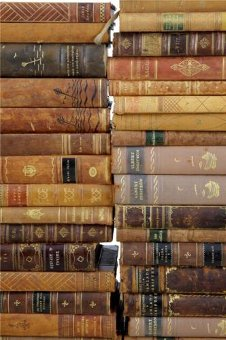 Antique 125 FINE QUALITY LEATHER BOUND DECORATIVE BOOKS