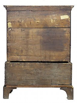 Antique 18TH CENTURY QUEEN ANNE WALNUT CHEST ON STAND