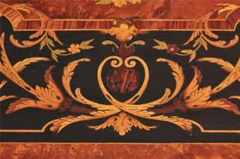 Antique 19TH CENTURY FRENCH MARQUETRY INLAID DROPLEAF TABLE
