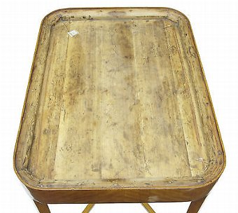 Antique 19TH CENTURY BIRCH TOLEWARE TRAY TABLE