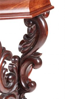 Antique 19TH CENTURY CARVED MAHOGANY CENTER TABLE