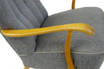 Antique 20TH CENTURY 1960's SWEDISH BIRCH ARMCHAIR