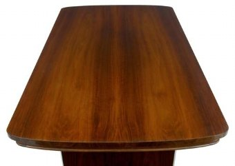 Antique 1950's EPSTEIN WALNUT EXTENDING DINING TABLE