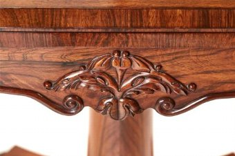 Antique 19TH CENTURY WILLIAM IV ROSEWOOD CARD TABLE
