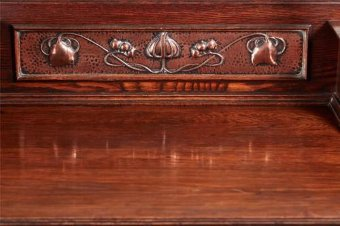Antique 19TH CENTURY OAK ARTS AND CRAFTS MIRRORED SIDEBOARD