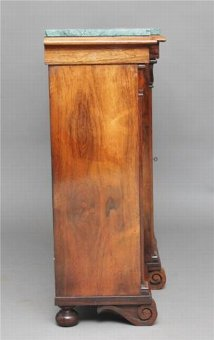 Antique 19TH CENTURY WILLIAM IV ROSEWOOD BREAKFRONT BOOKCASE CABINET
