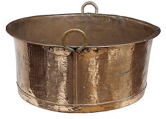 Antique 19TH CENTURY LARGE COOKING COPPER POT