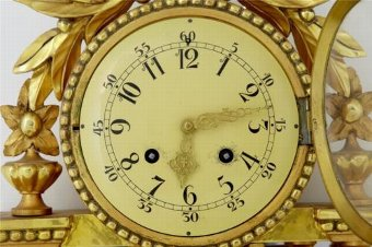 Antique 20TH CENTURY SWEDISH GILT CARVED WOOD WALL CLOCK