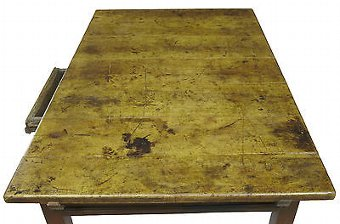 Antique 18TH CENTURY RUSTIC SWEDISH WALNUT AND PAINTED KITCHEN TABLE