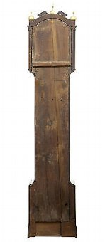 Antique 18TH CENTURY OAK LONGCASE CLOCK BY JAMES DRAYCOT WELLS