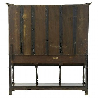 Antique 18TH CENTURY ENGLISH OAK DRESSER AND RACK