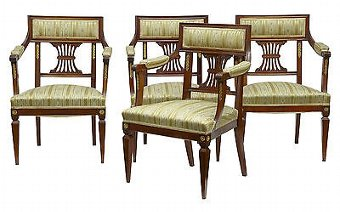 Antique 6 PIECE EARLY 20TH CENTURY FRENCH MAHOGANY SALON SUITE