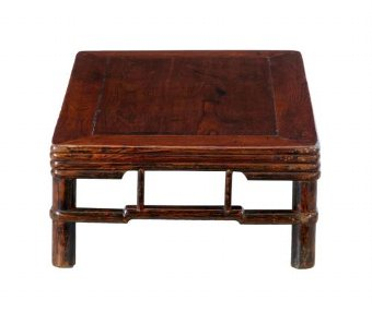 Antique 19TH CENTURY CHINESE ELM LOW TABLE