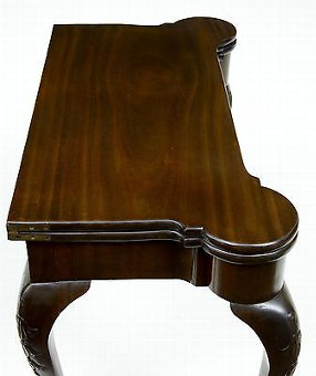 Antique 19TH CENTURY CHIPPENDALE INFLUENCED MAHOGANY CARD TABLE