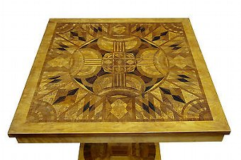 Antique 20TH CENTURY ART DECO INLAID OCCASIONAL TABLE
