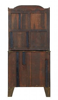 Antique 19TH CENTURY WILLIAM IV MAHOGANY SECRETAIRE BOOKCASE