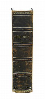 Antique 19TH CENTURY BOOK THE COMPLETE WORKS OF LORD BYRON