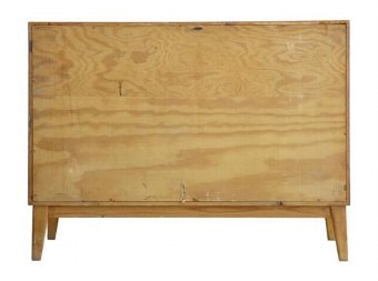 Antique 1950's LATER ART DECO BIRCH INLAID CHEST OF DRAWERS