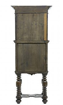 Antique 19TH CENTURY VICTORIAN CARVED OAK HALL CUPBOARD ON STAND