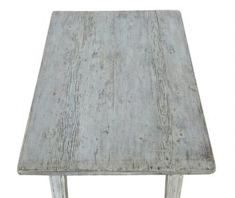 Antique 19TH CENTURY SWEDISH PAINTED OCCASIONAL TABLE