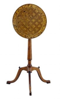 Antique 19TH CENTURY SMALL ALDER ROOT AND BIRCH TRIPOD TABLE