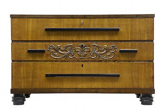 Antique 20TH CENTURY ART DECO BIRCH CHEST OF DRAWERS