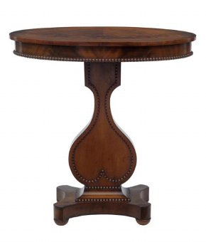 Antique 19TH CENTURY OVAL MAHOGANY OCCASIONAL TABLE