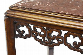 Antique 19TH CENTURY CARVED CHINESE HARDWOOD PLANT STAND