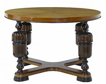 Antique 20TH CENTURY ART DECO ELM BIRCH COFFEE TABLE