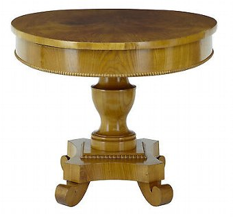 Antique 19TH CENTURY ELM CENTER OCCASIONAL TABLE