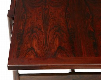 Antique 20TH CENTURY DANISH ROSEWOOD EXTENDING COFFEE TABLE