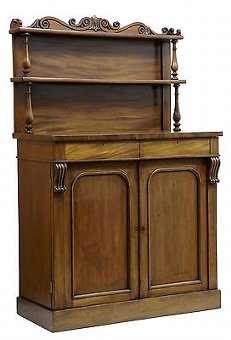 Antique EARLY VICTORIAN FRENCH MAHOGANY CHIFFIONIER SIDEBOARD