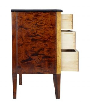 Antique 1920's BIRCH KINGWOOD COMMODE CHEST OF DRAWERS