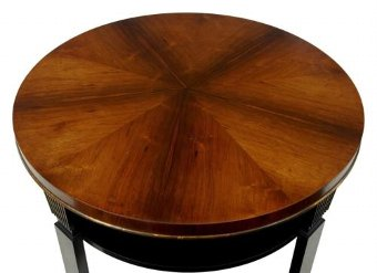 Antique 20TH CENTURY ART DECO LARGE ROSEWOOD BIRCH COFFEE TABLE