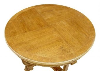 Antique 20TH CENTURY LATER DECO OAK COFFEE OCCASIONAL TABLE
