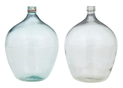 2 LARGE GLASS DISTILLERY BOTTLES