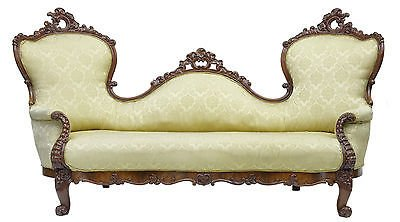 Antique 19TH CENTURY CARVED MAHOGANY VICTORIAN SOFA