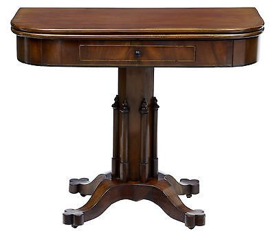 Antique 19TH CENTURY LOUIS PHILLIPE I MAHOGANY TEA CARD TABLE