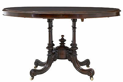 19TH CENTURY HIGH VICTORIAN INLAID WALNUT LOO OCCASIONAL TABLE