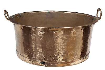 19TH CENTURY LARGE COOKING COPPER POT