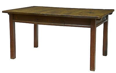 18TH CENTURY RUSTIC SWEDISH WALNUT AND PAINTED KITCHEN TABLE
