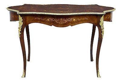 Antique 19TH CENTURY FRENCH INLAID MAHOGANY KINGWOOD CENTRE TABLE