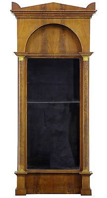 19TH CENTURY EMPIRE MAHOGANY PIER MIRROR