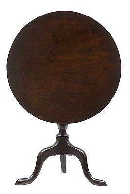 18TH CENTURY GEORGE III MAHOGANY TILT TOP OCCASIONAL TABLE