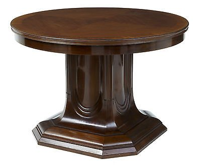 Antique 19TH CENTURY MAHOGANY PEDESTAL BASE CENTER TABLE