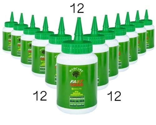 12 X WUDCARE 500G SMALL BOTTLE OF SUPER FAST ADHESIVE GLUE