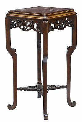19TH CENTURY CARVED CHINESE HARDWOOD PLANT STAND