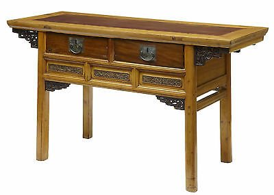 19TH CENTURY CHINESE CARVED CYPRESS WOOD ALTAR TABLE SIDEBOARD