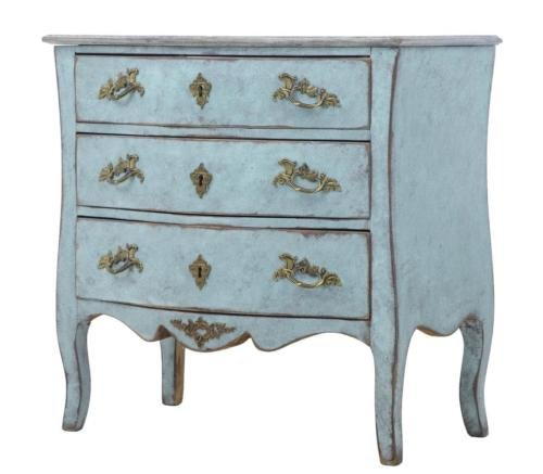19TH CENTURY SMALL GUSTAVIAN INFLUENCED SHAPED CHEST OF DRAWERS COMMODE